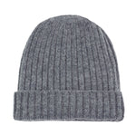 light grey warm winter wool beanie hat