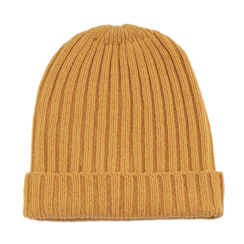harvest gold warm winter wool beanie hat