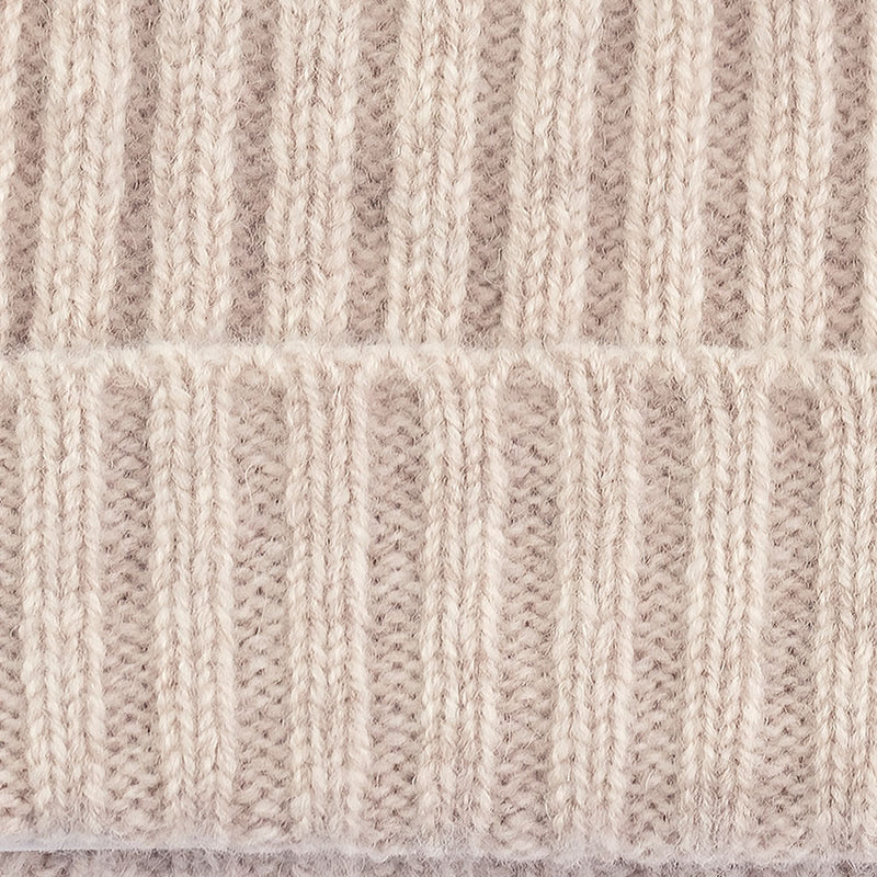 linen warm winter wool beanie hat close up