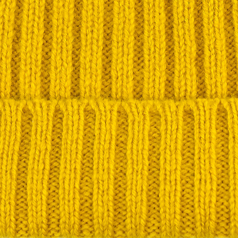 yellow warm winter wool beanie hat
