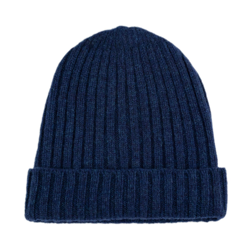 regatta blue warm winter wool beanie hat