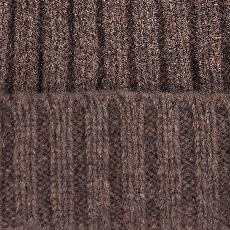 brown warm winter wool beanie hat