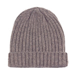 vole beige warm winter wool beanie hat