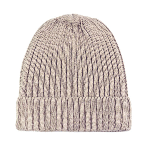 fawn beige itch free cotton beanie hat