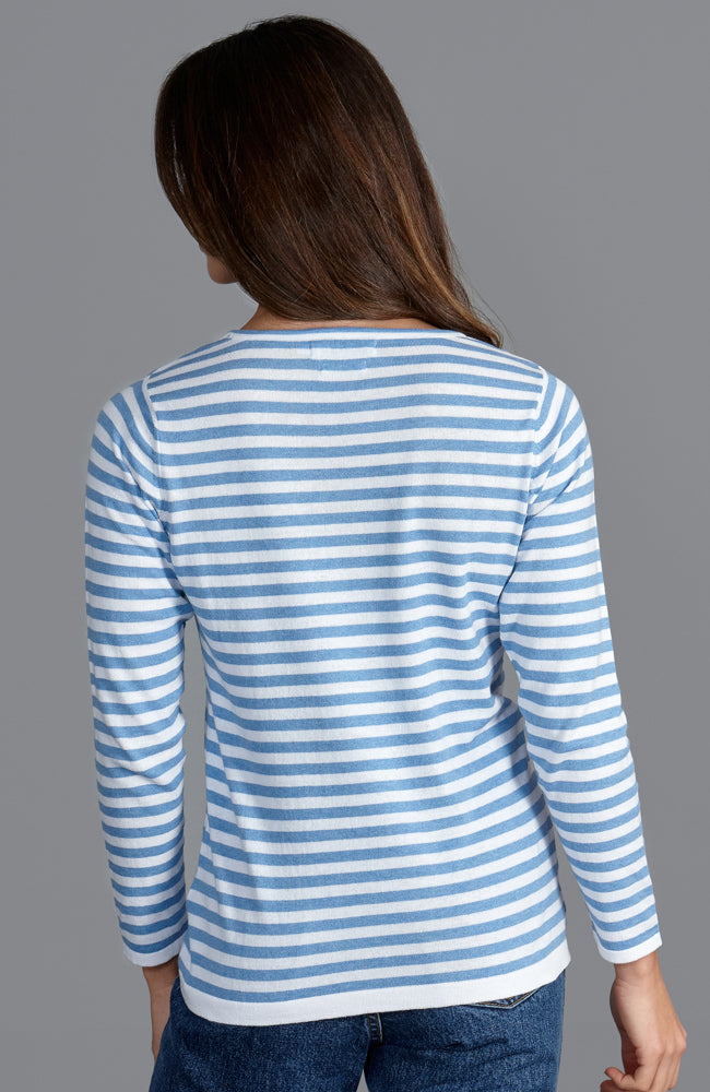 womens soft summer breton stripe sweater