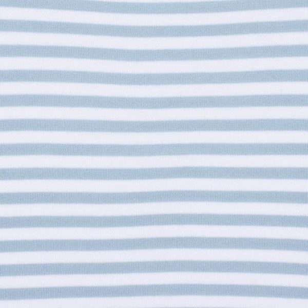 teal womens cotton breton stripe jumper close up