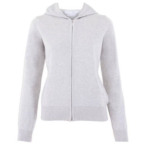 Womens Pure Cotton Hooded Long Sleeve Jumper