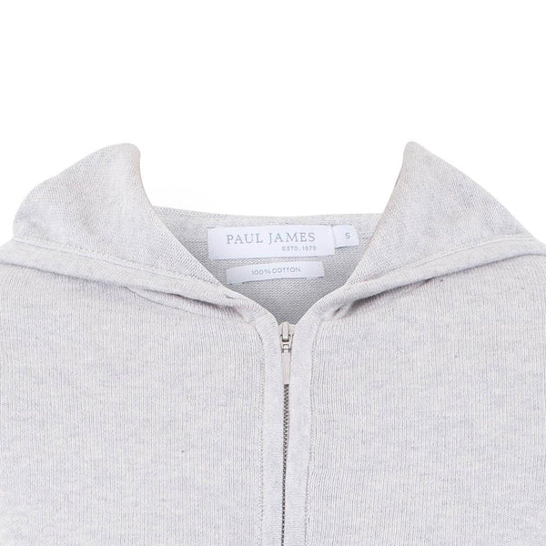 womens grey zip hooded jumper neck