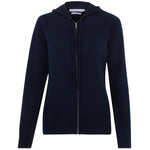 womens navy cotton thin hooded jumper