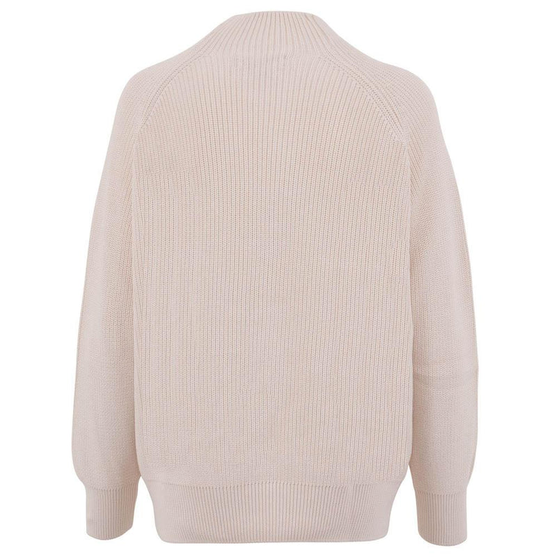 off white womens ribbed cotton fisherman jumper back