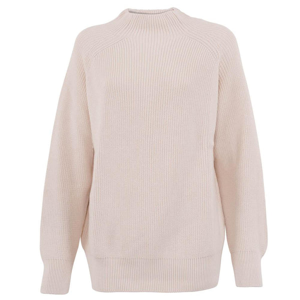 off white womens ribbed cotton fisherman jumper