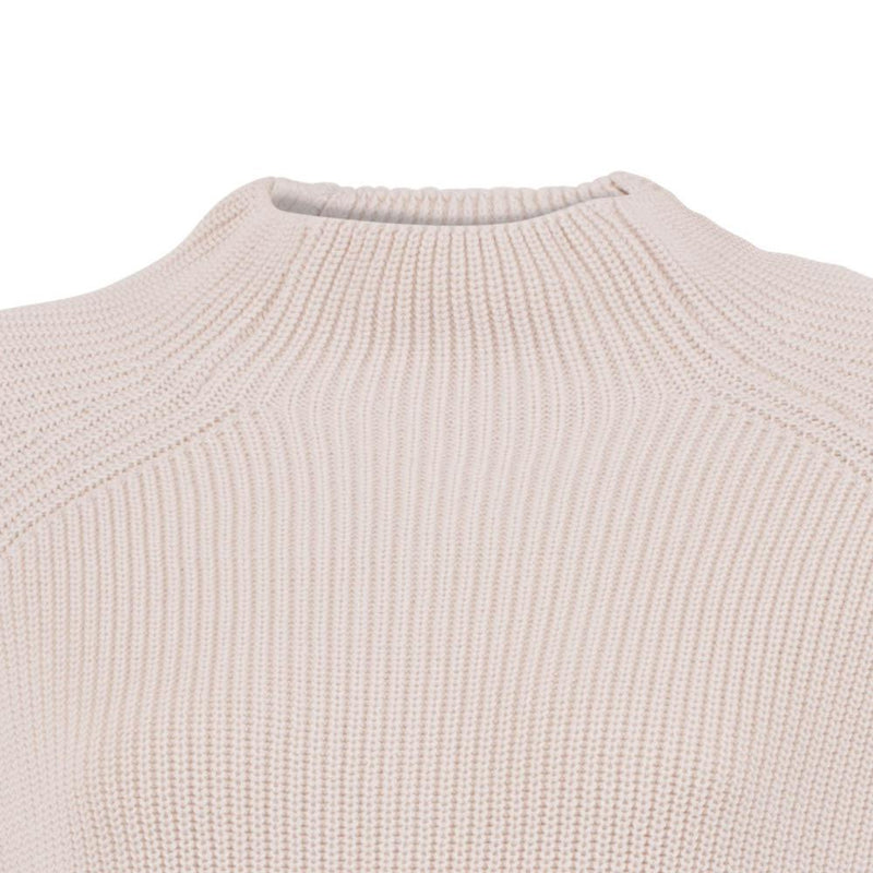 Womens Pure Cotton High Neck Raglan Jumper