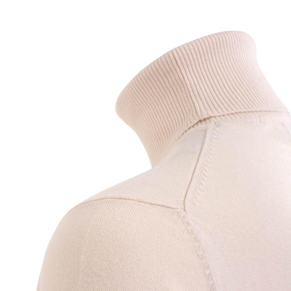 off white womens cotton roll neck jumper shoulder