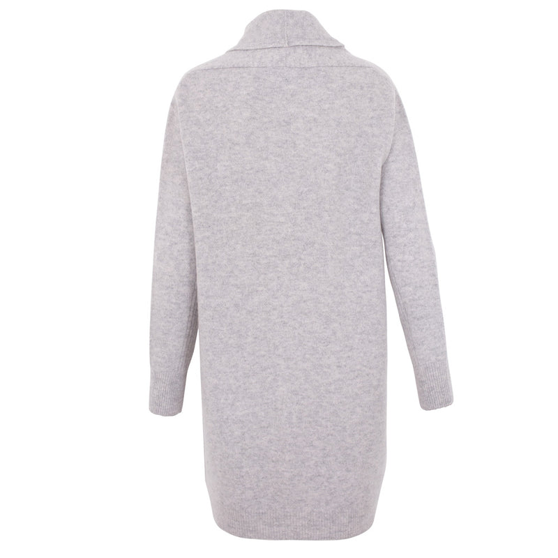 Womens Pure Lambswool Long Line Cardigan with Pockets