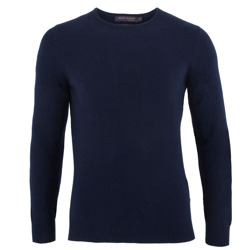 mens navy cashmere sweater front