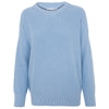 womens baby blue round neck cotton jumper