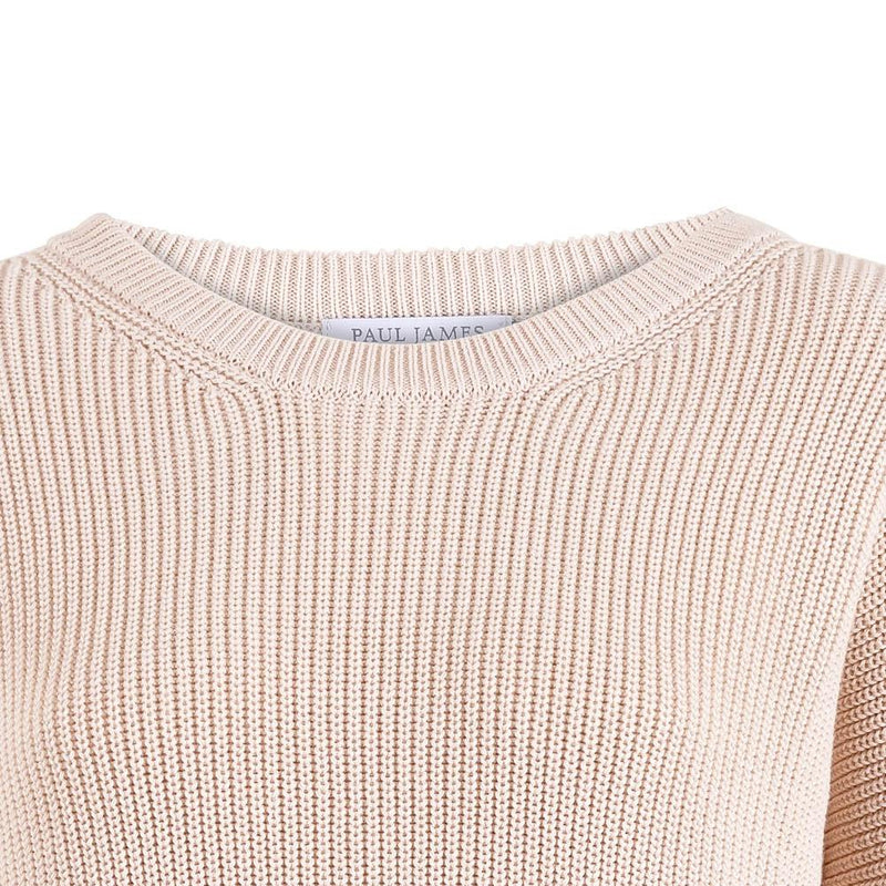 womens round neck cotton ribbed crew neck jumper