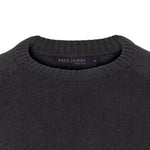 charcoal mens submariner round neck cotton sweater