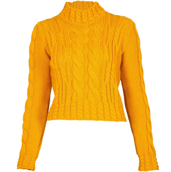 womens Vintage aran crop jumper - Paul James Knitwear