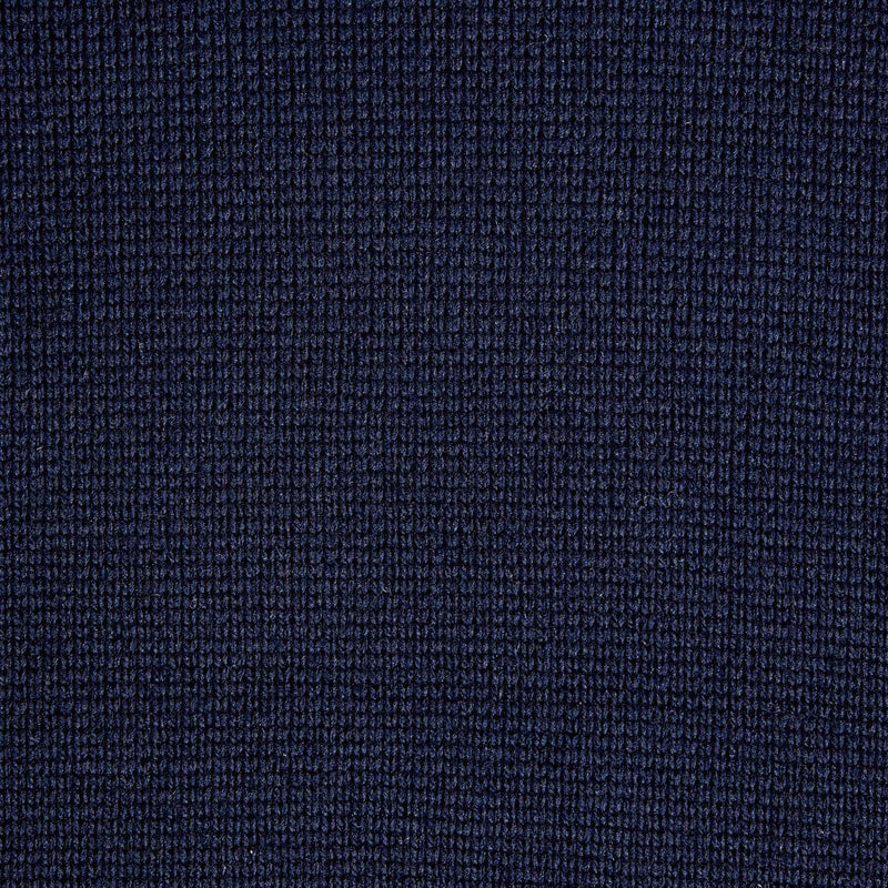 mens navy submariner wool jumper close up