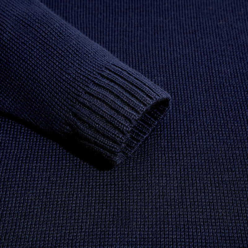 mens navy submariner wool jumper sleeve