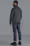 mens charcoal submariner roll neck chunky merino wool jumper back