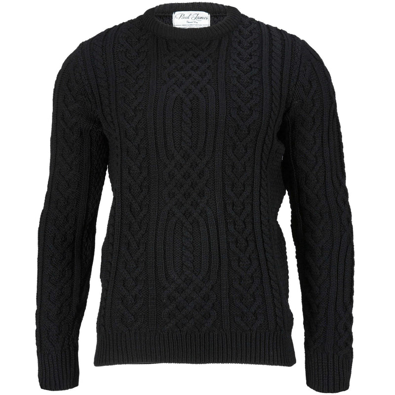 Anderson - Pure Merino Wool Sweater Black - Paul James Knitwear
