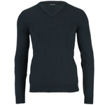 olive mens v neck merino wool jumper