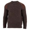 mens brown british wool chunky ribbed shooting jumper