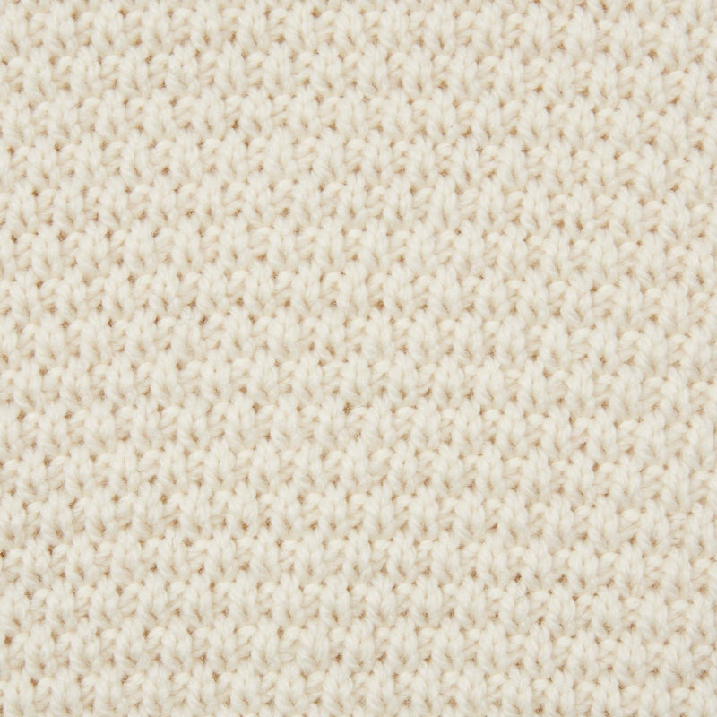 mens ecru merino wool moss stitch jumper close up