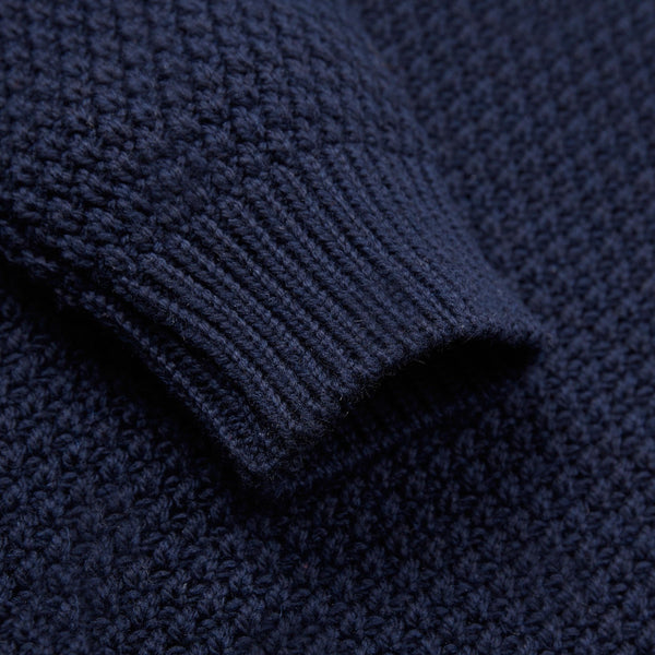 Crew Neck Merino Moss Stitch Jumper
