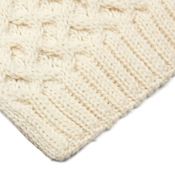cream honeycomb wool scarf