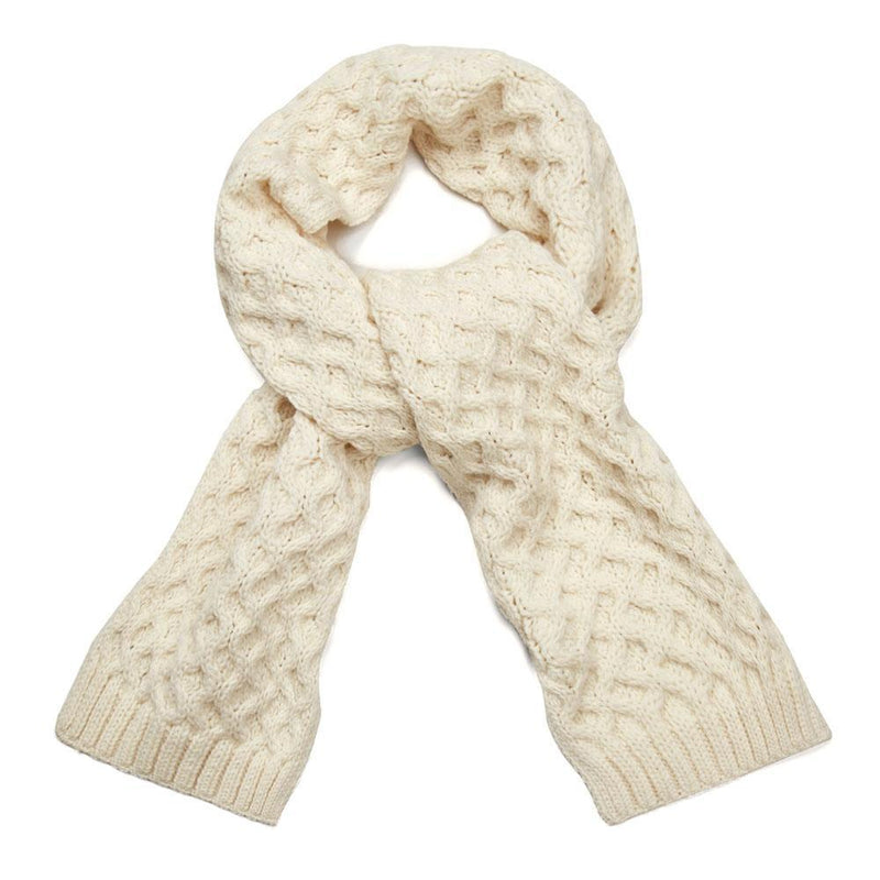 cream honeycomb scarf