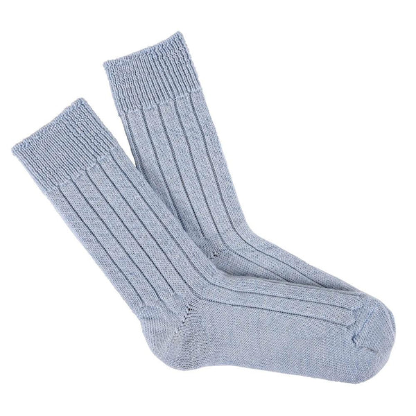 baby blue bed socks