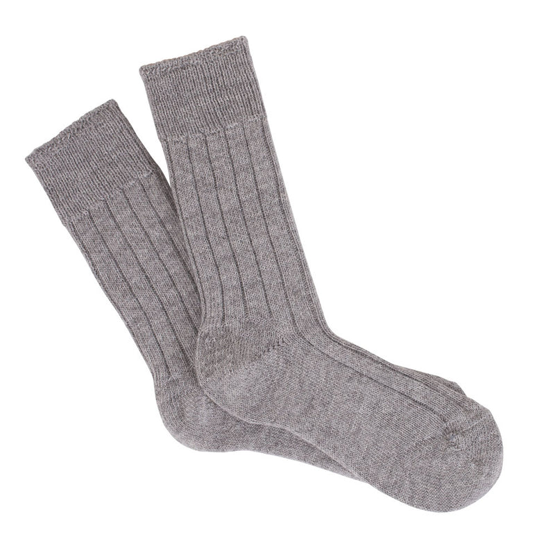 pearl grey warm and cosy alpaca bed sock
