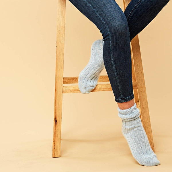 Womens alpaca soft bed socks
