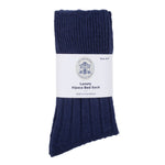 navy cosy alpaca bed sock