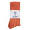 orange luxury alpaca warm bed sock