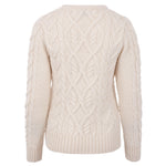 Womens Chunky 100% Merino Wool Cable Jumper