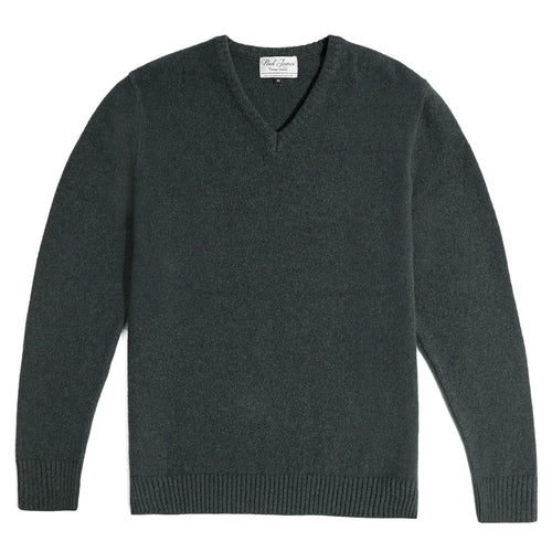 mens green v neck lambswool jumper