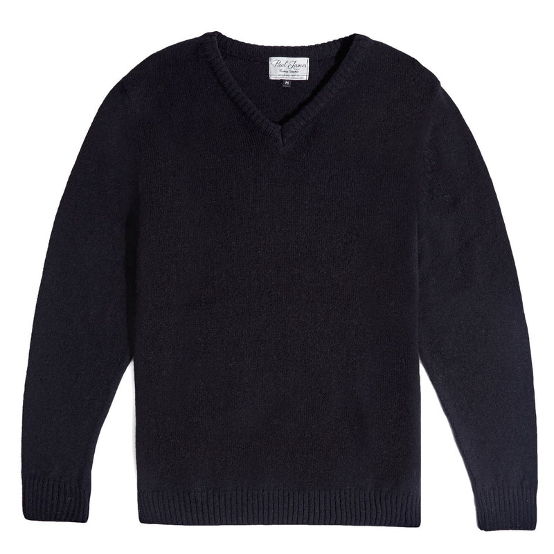 mens black v neck lambswool jumper