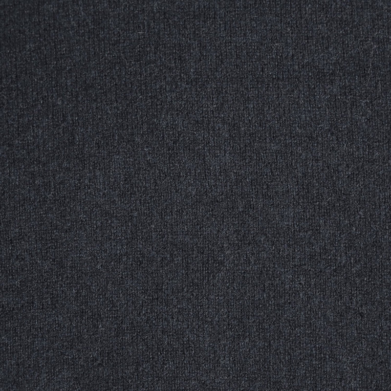 mens navy v neck lambswool jumper close