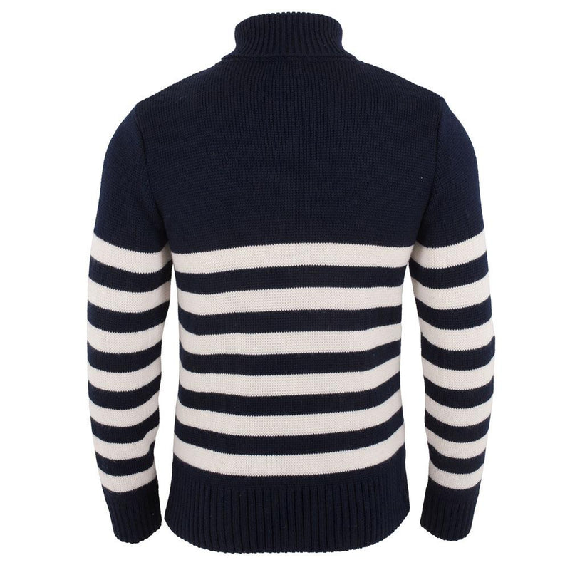 mens turtle neck chunky wool submariner sweater