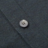 mens olive green merino lightweight cardigan button detail