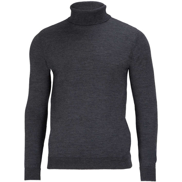 Mens 100% Merino Wool Roll Neck Jumper