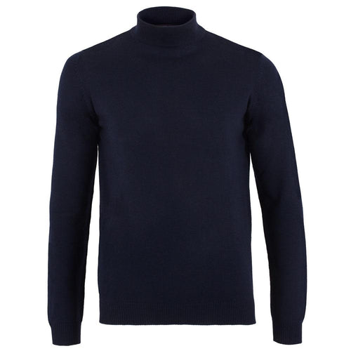 mens navy mock turtle neck sweater