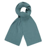 green heavy thick and warm winter merino wool scarf