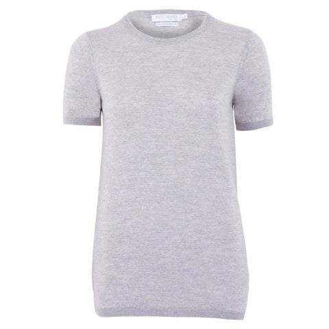 97fe61495ebd Womens 100% Merino Wool Round Neck Short Sleeve T Shirt