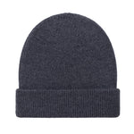 charcoal fisherman fine merino beanie hat