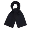 black heavy thick and warm winter merino wool scarf